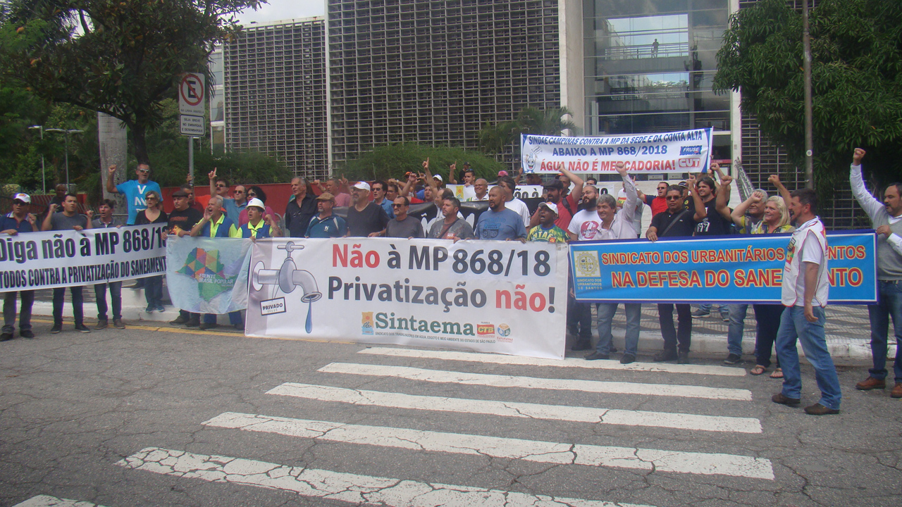 Movimento na Alesp contra as Privatizações